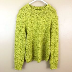 Urban Outfitters Neon Yellow Marled Sweater size M